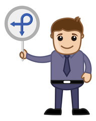 Man Showing Arrow Sign