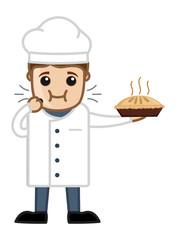 Chef Eating Pan Cake