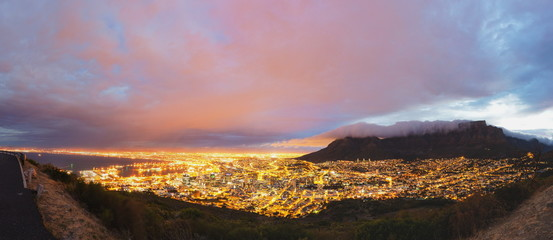 Cape Town and Table Mountain panorama
