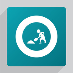 flat construction works icon.