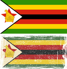 Zimbabwe grunge flag. Vector illustration