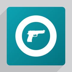 flat gun icon.