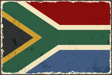 South Africa grunge flag. Vector illustration
