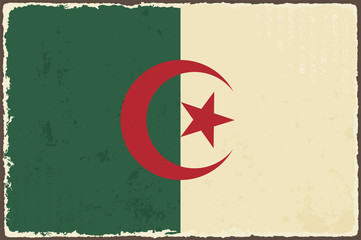 Algerian grunge flag. Vector illustration