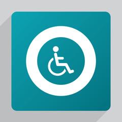 flat cripple icon.