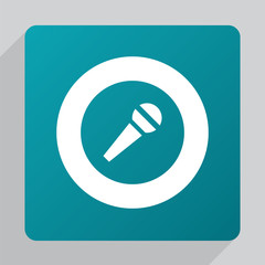 flat microphone icon.