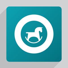 flat horse toy icon.