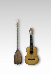 Baglama and Guitar