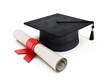 Mortar board and diploma - 68333202