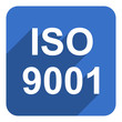 iso 9001 flat  icon