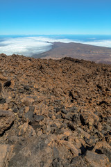 Volcanic rocks at the top of Teide Volcano
