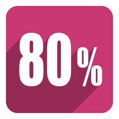 80 percent flat  icon