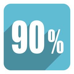 90 percent flat  icon