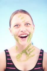 Teen girl laughing