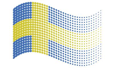 Sweden Halftone Flag