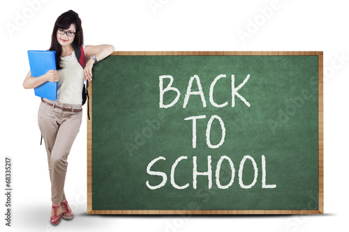 Female student back to school