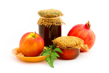 Apple and honey for Jewish New Year holiday