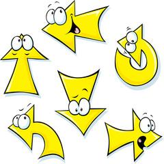 set of cartoon arrows