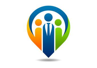 logo consulting partnership, success teamwork