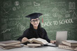 Postgraduate studying in class