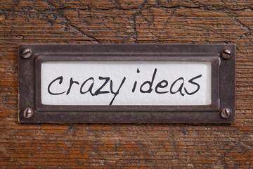 crazy ideas - file cabinet label