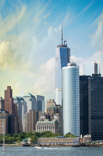 Manhattan, Nowy Jork. Wspaniała panorama miasta