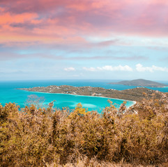 Beautiful landscape of Saint Thomas