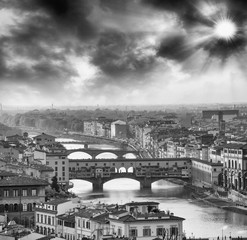 Ponte Vecchio and Florence Buildings, Italy