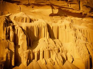 erosion of sandstone. background