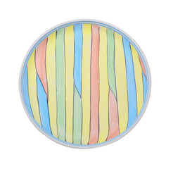 handcrafted, colorful decorated plates