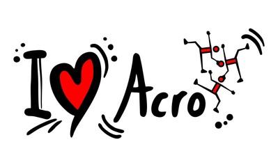 Love acro sport