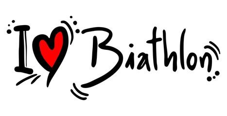 Biathlon sport love message