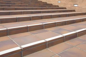 Empty concrete Stairway at building exterior