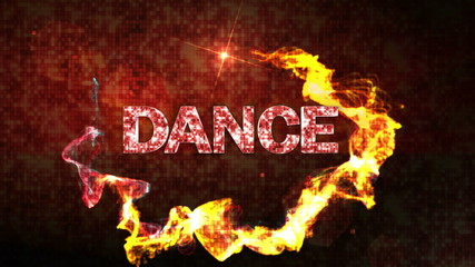 Dance Text and Particles