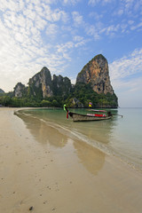 Beautiful Railay beach. Krabi, Thailand