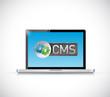 cms sign laptop illustration design
