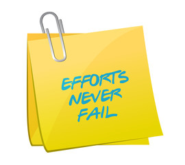 effort never fail post illustration design