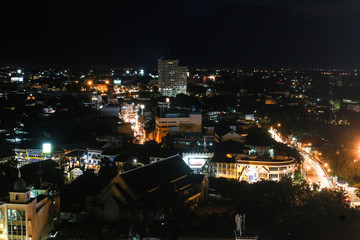 CHIANG MAI, THAILAND - JULY 14, 2014: aerial view on Chiang Mai