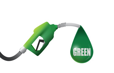 green gas pump illustration design