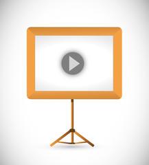 video presentation board illustration