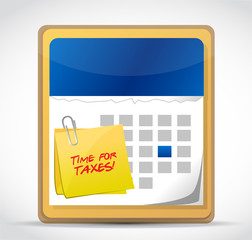 time for taxes calendar illustration