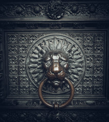 lion head as a knocker.