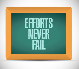 efforts never fail message illustration