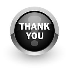 thank you chrome glossy web icon
