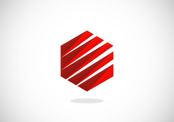 business technology abstract polygon logo