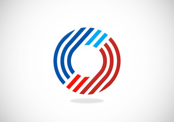 circle stripe geometry vector logo
