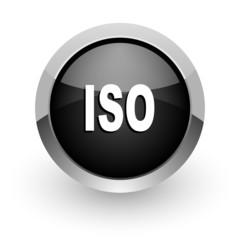 iso black chrome glossy web icon