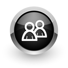 forum black chrome glossy web icon