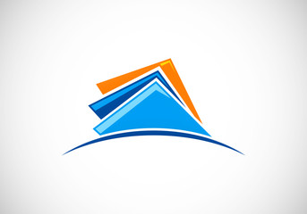 document-files-storage-horizon-vector-logo