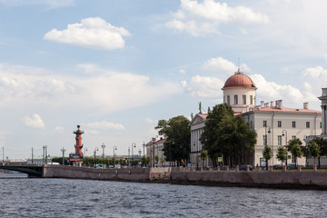 View on the city islands. St. Petersburg